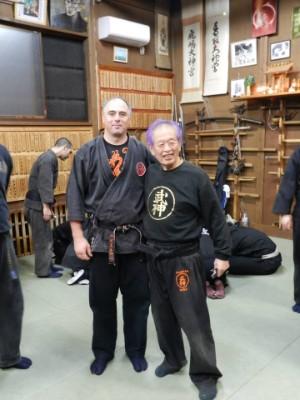 Clase de artes marciales en japón